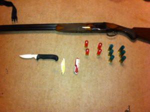 猟銃のメンテナンス