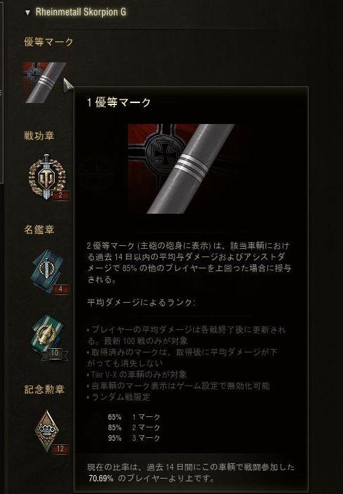 スコーピオンG三優等