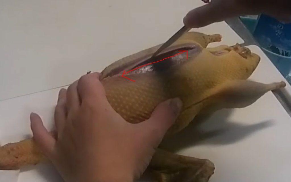 鴨の腹開き