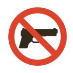 銃所持反対 禁止